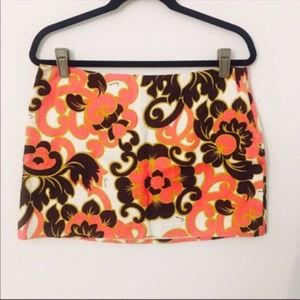 Milly floral paisley mini skirt
